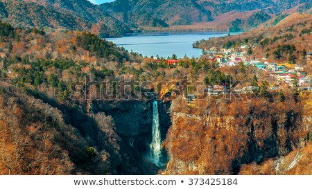 Kegon falls and Chuzenji lake, Nikko, Japan Stock photo © daboost
