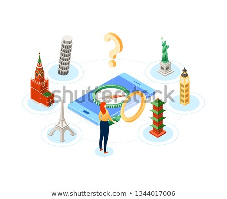 Popular travel destination - modern colorful isometric illustration Stock photo © Decorwithme