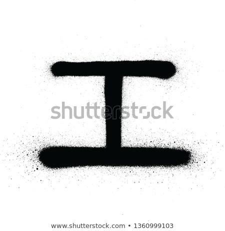 Grafite japonês preto e branco escrita grafite Foto stock © Melvin07