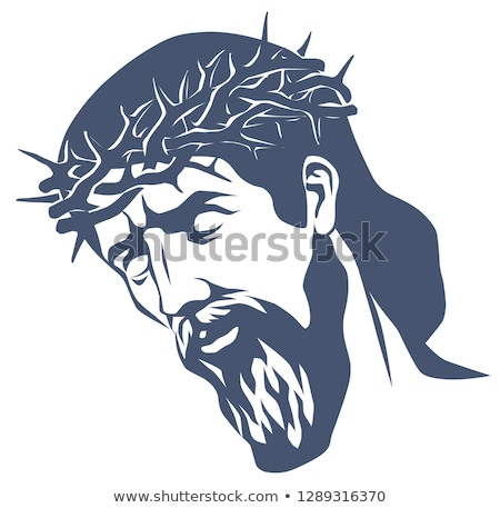 man with a crown of thorns in his head Stock photo © nito
