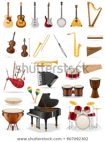 Collection of musical instruments Stock photo © colematt