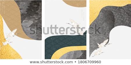 Dier natuur sjabloon illustratie meisje blad Stockfoto © bluering