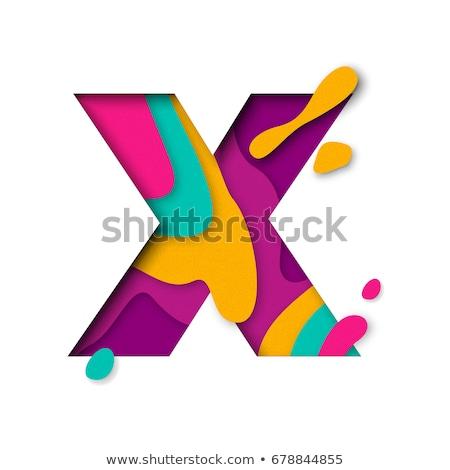 Multi color layers font Letter X 3D Stock photo © djmilic