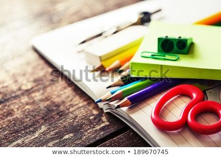 школьные принадлежности готовый служба школы работу Сток-фото © grafvision