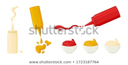 Wasabi Hot Mustard In Dip Bowl With Splash Vector Stock photo © pikepicture