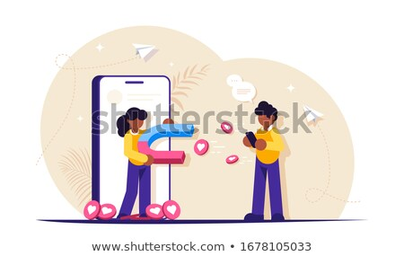 Attracting followers concept vector illustration Stock photo © RAStudio