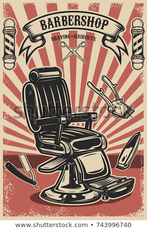 Barber Shop Poster Hairdresser Cut or Shave Beard Stock photo © robuart