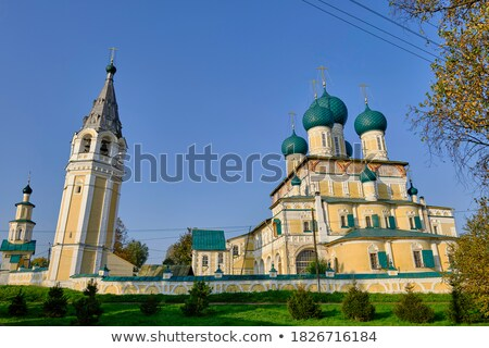 Verrijzenis kathedraal kerkarchitectuur tweede half hemel Stockfoto © borisb17