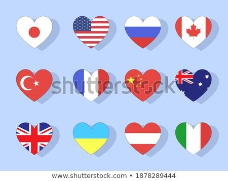 gyűjtemény · vektor · zászlók · Európa · űrlap · szívek - stock fotó © butenkow