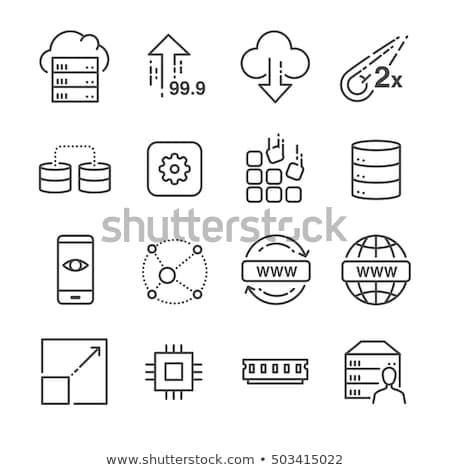 Domain vonal ikon vektor izolált fehér Stock fotó © smoki