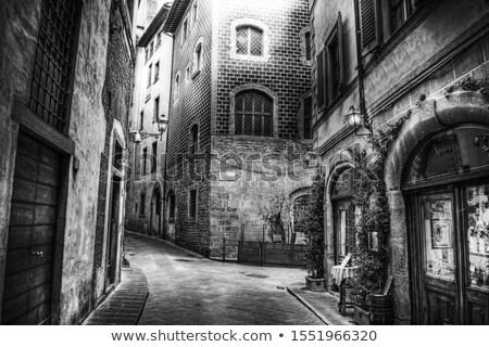 Oude smal straat Praag dawn huis Stockfoto © Givaga