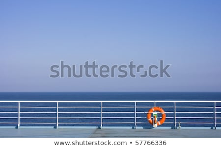Ferry cruise railing in a blue ocean buoy Stock photo © lunamarina