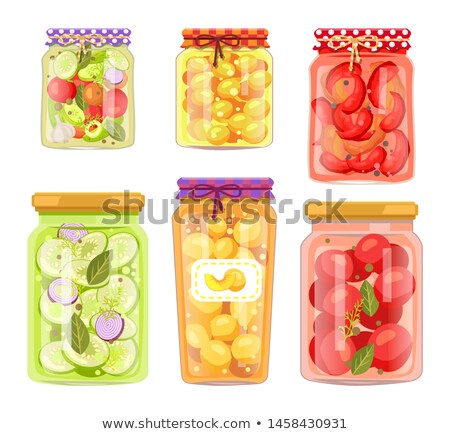 Granny Homemade Fruit Conserve and Pickled Veggie Stock photo © robuart