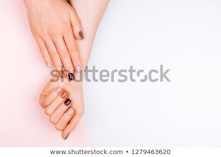puha · szelektív · fókusz · szépség · szög · törődés · kezek - stock fotó © serdechny