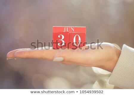 Cubes calendar 30th June Stock photo © Oakozhan