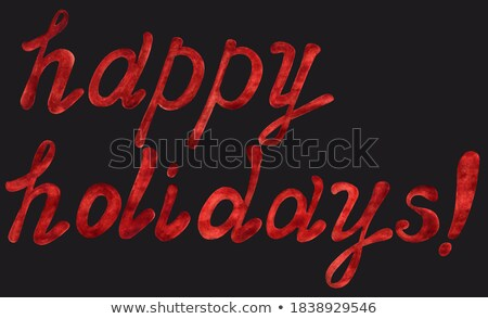 Feliz halloween congratulação convite letra isolado Foto stock © MarySan