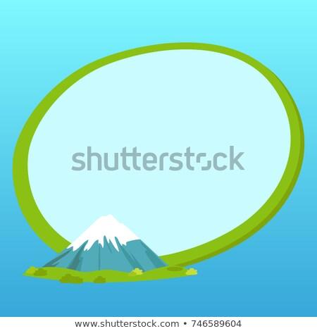 Japan label tekst binnenkant fuji berg Stockfoto © robuart