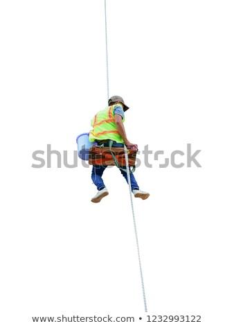 работу · подвесной · веревку · небоскреба · небе - Сток-фото © 5xinc