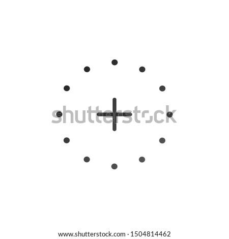 Ikon noktalı daire çapraz simge Stok fotoğraf © kyryloff