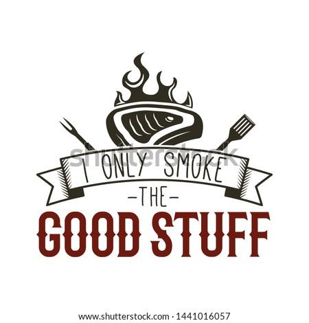 Vintage BBQ grill grafiki tshirt inny Zdjęcia stock © JeksonGraphics