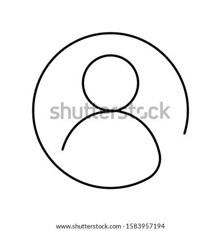 Paar man vrouw gebruiker lineair icon Stockfoto © kyryloff