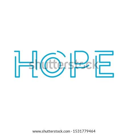 Palavra esperança linear projeto vetor Foto stock © kyryloff