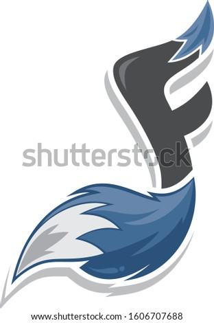 fox tail fire logo logotype alphabet initial letter music note Stock photo © vector1st
