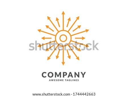 Yaratıcı geometrik güneş daire rays dışarı Stok fotoğraf © kyryloff