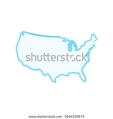 Einfache linear Karte USA hat isoliert Stock foto © kyryloff