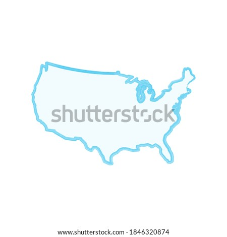 Basit doğrusal harita ABD stok yalıtılmış Stok fotoğraf © kyryloff