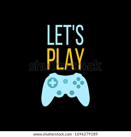 Let's Stay Home and play videogames illustration concept coronavirus Covid-19 with mountains. Corona Stock photo © JeksonGraphics
