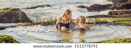 Pantai Tegal Wangi Beach, Bali Island, Indonesia BANNER, LONG FORMAT Stock photo © galitskaya