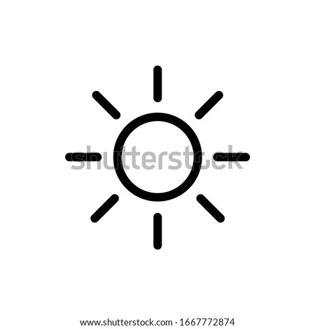 Sun. Outline icon in a circle. Weather vector illustration Stock photo © Imaagio