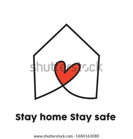 Tartózkodás széf otthon ház szív munka Stock fotó © SArts