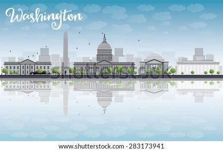 Washington DC gris espacio de la copia turismo Foto stock © ShustrikS