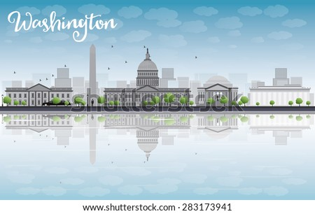 Washington DC grijs exemplaar ruimte toerisme Stockfoto © ShustrikS