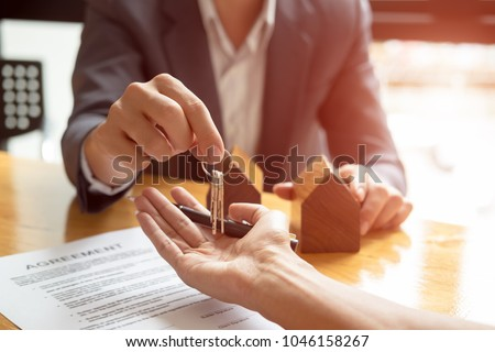 家 キー クライアント 不動産業者 署名 契約 ストックフォト © AndreyPopov