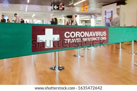 Travel restrictions, quarantine and coronavirus concept. Blood sample in tube and passport on white  Stock photo © vkstudio