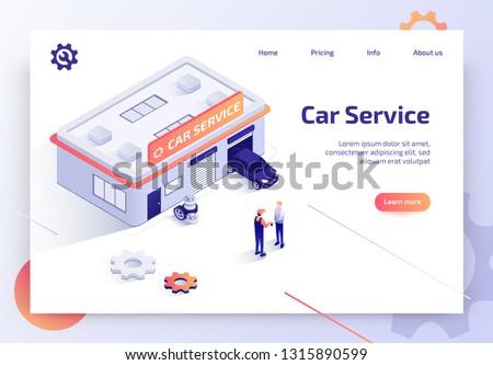 Car service concept landing page. Stock photo © RAStudio