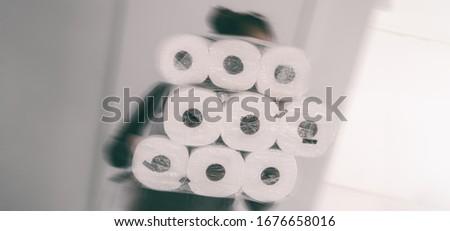 Koronawirus zakupy sklepu kobieta wiele Zdjęcia stock © Maridav