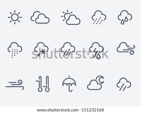 Vector weather icons symbol set Stock photo © nickylarson974