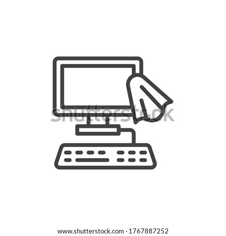 keyboard disinfection from computer icon vector outline illustration Stock photo © pikepicture