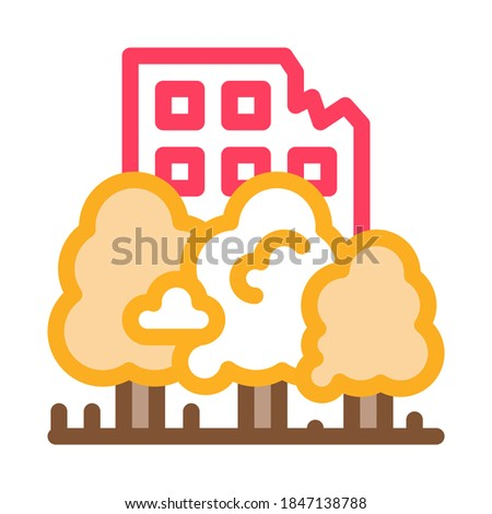 forest ruined house background icon vector outline illustration Stock photo © pikepicture