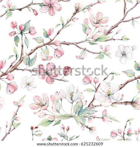 Vintage apple tree flores florescer floral flor Foto stock © Anneleven