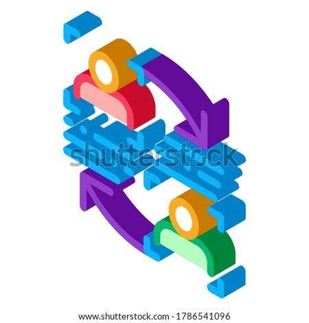 Osobowość informacji porównanie izometryczny ikona wektora Zdjęcia stock © pikepicture