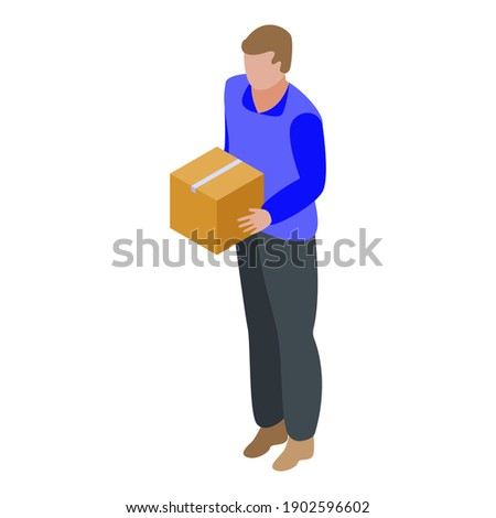 Delivery Express Courier Big Parcel isometric icon vector illustration Stock photo © pikepicture