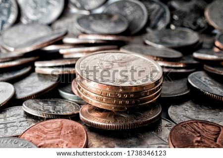 Estados Unidos moedas azul um negócio Foto stock © Frankljr