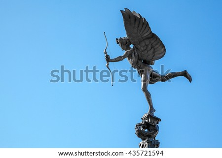 Stok fotoğraf: Eros Statue Of Piccadilly Circus London