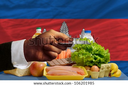 Buying Groceries With Credit Card In Cambodia Foto stock © vepar5
