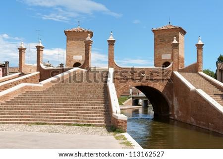 Glimpse of Comacchio, Italy Stock photo © aladin66